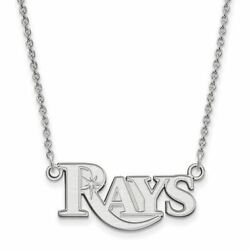 Ss Mlb Tampa Bay Rays Small Logo Pendant W/necklace