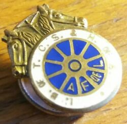 Teamsters Union Lapel Pin I.b. Of T.c.w. And H.of A. Af Of L Cloisonne Usa Rare Us