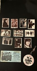 Beatles-a Hard Days Night Movie Premiere Ticket, An Ad And 10 Trading Cards