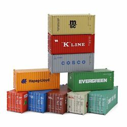 3pcs Ho Scale 187 20ft Shipping Container 20' Cargo Box Model Trains Container