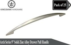 Set Of 25 - Arch Series 9' Solid Zinc Alloy Drawer Bar Pull Handle