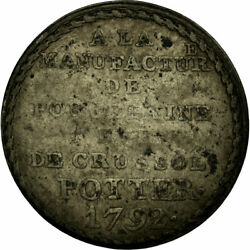 [483534] Coin France Manufacture Potter 5 Sols 1792 Vf20-25 Silver