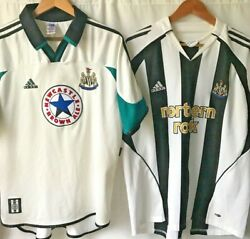 Adidas Newcastle United Shirts Brown Ale Northern Rock X2 1999 And 2006 Large/xlrg