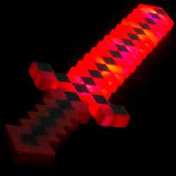 Lumistick Multi-color Ultra Bright 24and039and039 Light Up Pixel Sword Red And Black Lot