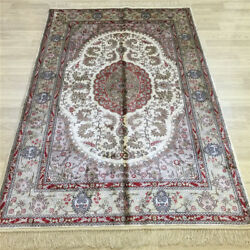 Yilong 4and039x6and039 Handwoven Silk Carpet Oriental Interior Design Rug L051c