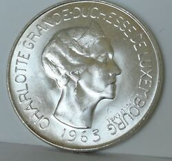 1963 Luxembourg, 100 Francs, Brilliant Uncirculated