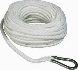 Boat Rope Towing Line 3/8 X 75' Hollow Braid Anchor Dock Tie Down Marine Hook