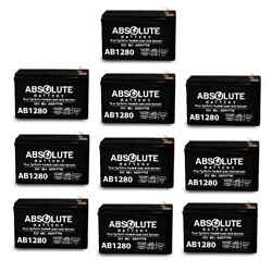 10 Pack New F1 12v 8ah Ab1280 F1 Battery Replacement For Mge Pulsar El7 Esv 14.