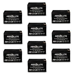 10 Pack New 12v 12ah F2 Replacement Battery For John Deere Turf Tractor Igor0027