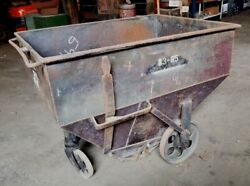 Vintage Hershey Chocolate Hopper Rolling Fire Pit Bbq Cooler Steam Punk