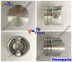 For Kubota V1200-a V1200 Piston Kit With Ring Set Fit B2150 B9200 Tractor Parts