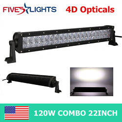 22inch 120w 4d Opticals Led Light Bar Work Spot Flood Combo Off Road 4x4wd Ford
