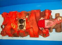 Volvo Penta 5.7l Gm 260 Intake Manifold 2 Bbl Cast 346260 And Thermostat Housing