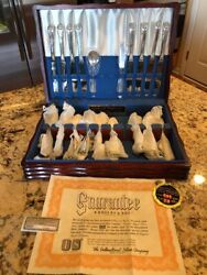 Rogers And Brothers Reinforced Silverplate Silverware Flatware And Box Chest Set 50