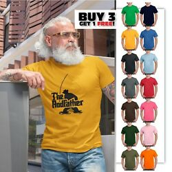 The Rodfather Funny Fishing T Shirt Funny Gift fish Men#x27;s Funny T SHIRTS tee