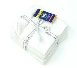 720 100 Cotton White Wash Cloth Towels Extra Soft And Absorbent 12x12 Bulk Lot