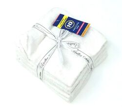 120 100 Cotton White Wash Cloth Towels Extra Soft And Absorbent 12x12 Bulk Lot