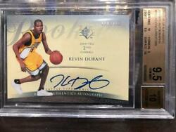 2007-08 Kevin Durant /399 Upper Deck UD SP Authentic RC BGS Auto W/ 2 10's SUBS!