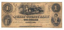 1854 Perry County Bank Cannelton Ind. 1 Note No.13496 - 04756