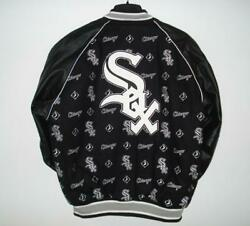 Chicago White Sox Wool And Leather Reversible All Embroidered Jacket Jh Design