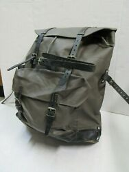 Vintage Swiss Army Mountain Backpack Rucksack W/ Leather Straps 1983 Switzerland