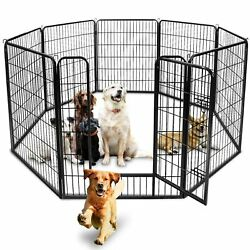 39tall Foldable 8 Panels Metal Pet Dog Puppy Cat Exercise Fence Barrier Playpen