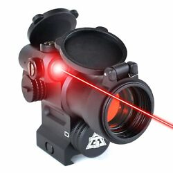 At3 Leos Red Dot Sight With Integrated Laser And Riser - 2 Moa Red Dot Scope Wi...