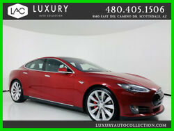 2016 Tesla Model S P90D AWD Performance Glass Roof Turbin Wheels Carbon Inter 2016 Tesla Model S P90D AWD Performance Red  *TradeFinancing 480.418.6160*
