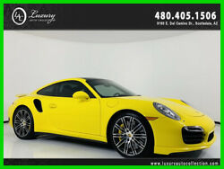 2016 Porsche 911 Turbo Porsche Ceramic Composite Brakes Sport Chrono Pkg 2016 Porsche 911 Turbo Yellow  *TradeFinancing 480.418.6160*