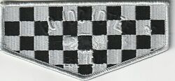 Bsa Oa Echockotee Lodge 200 Black And Grey Checkerboard Flap Only 100 Made