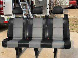 2007-2017 Sprinter Van 3rd Row Seating Black Leather, Very Good Condition