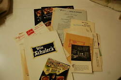 Very Large Group Of Vintage Win Schuler's Restaurant Menus And Items