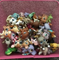 Used Littlest Pet Shop Mixed Lot 10 Pieces Random Guaranteed One Cat and One Dog