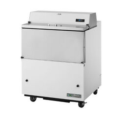 True Tmc-34-ss-hc Forced Air White Exterior And Stainless Interior Milk Cooler