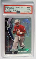 2000 Tom Brady Rookie Absolute Playoff Rare Players Honors SN 0710 PSA 9 POP 1
