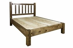 Farmhouse Platform Bed Amish Made Queen Beds Rustic Lodge Cabin Furniture