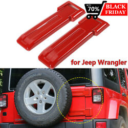 For Jeep Wrangler Jk 2007-2018 Rear Tailgate Hinge Covers Spare Tire Bracket Red