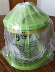 Tupperware Whip N Prep System Make Whipped Cream Meringue + Green Accents New