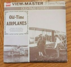 B797 Old-time Airplanes From Black And White Stereographs Viewmaster Reels Packet