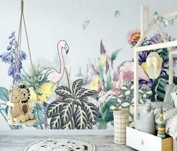 3d Flamingo O2576 Wallpaper Wall Mural Removable Self-adhesive Sticker Kids Amy