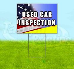 Used Car Inspection Yard Sign Corrugated Plastic Bandit Lawn Decoration