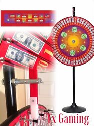 6' Floor Stand / Table Top Carnival Spin To Win Prize Wheel Money Dry Erase Pies