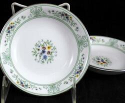 Wedgwood Agincourt Green 2 Fruit Bowls R4471 A+ Condition
