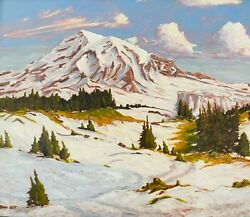 Mount Rainier By William Wendt Ca Impressionist Hand Painted Oil Reproduction