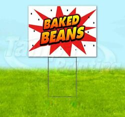 Baked Beans Yard Sign Corrugated Plastic Bandit Lawn Decorations Usa