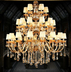 Top European Luxury Crystal Pendant Lamp Staircase Hotel Hall Ceiling Light Yb11