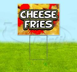 Cheese Fries Yard Sign Corrugated Plastic Bandit Lawn Decorations Usa