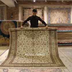 Yilong 6'x9' 300Lines All Over Hand Knotted Area Rug High Quality Carpets L133A