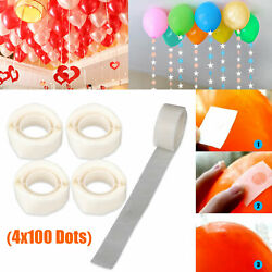 4x 100 Glue Points Removable Adhesive Foil Balloon Wedding Birthday Decor Tape