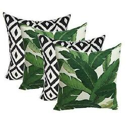 Resort Spa Home Decor Set of 4 Indoor Outdoor Decorative Throw PillowsTommy Bah